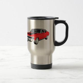 1968 Red Muscle Car Travel Mug