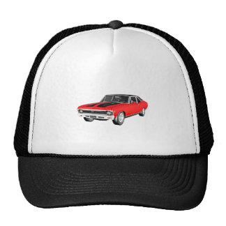 1968 Red Muscle Car Trucker Hat