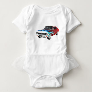 1968 Red White and Blue Muscle Car Baby Bodysuit