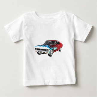 1968 Red White and Blue Muscle Car Baby T-Shirt