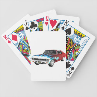 1968 Red White and Blue Muscle Car Bicycle Playing Cards