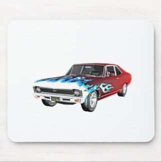 1968 Red White and Blue Muscle Car Mouse Pad