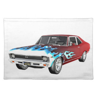 1968 Red White and Blue Muscle Car Placemat