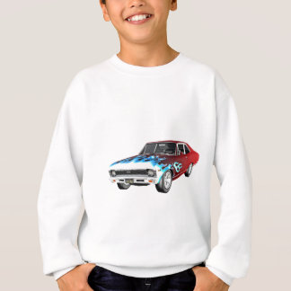 1968 Red White and Blue Muscle Car Sweatshirt
