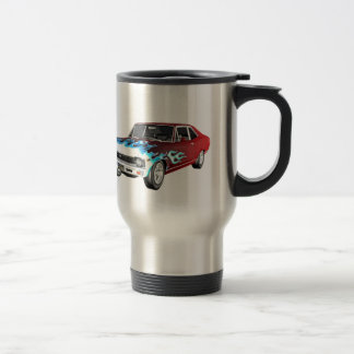 1968 Red White and Blue Muscle Car Travel Mug