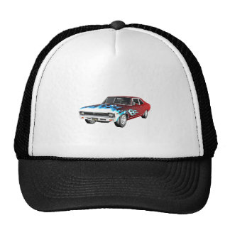 1968 Red White and Blue Muscle Car Trucker Hat