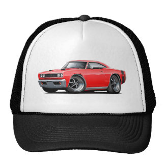 1968 Super Bee Red-Black Wide Stripe Trucker Hat