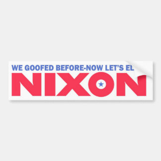 1968 Vintage Repro Nixon Election Bumper Sticker