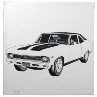 1968 White Muscle Car Napkin