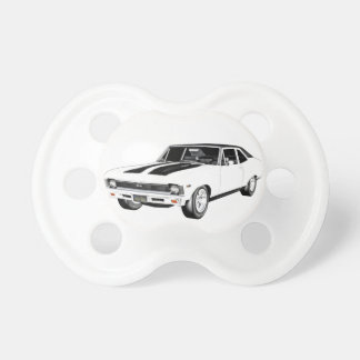 1968 White Muscle Car Pacifier