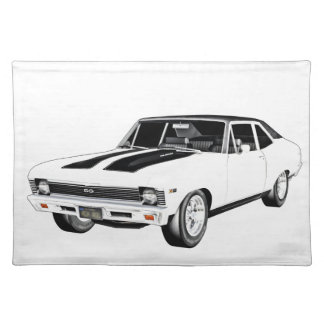 1968 White Muscle Car Placemat