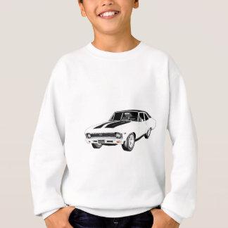1968 White Muscle Car Sweatshirt