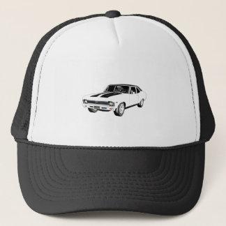 1968 White Muscle Car Trucker Hat