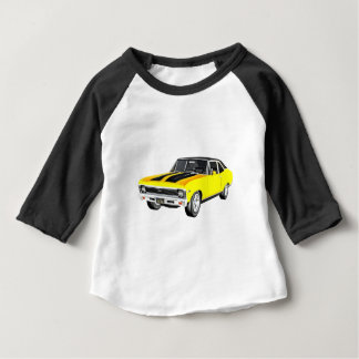 1968 Yellow Muscle Car Baby T-Shirt