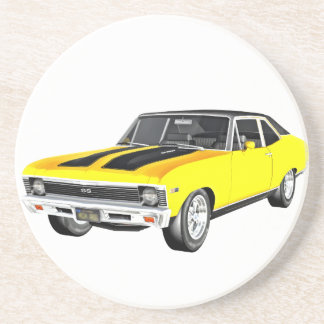1968 Yellow Muscle Car Coaster