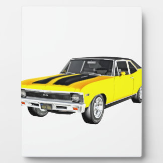 1968 Yellow Muscle Car Plaque