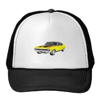 1968 Yellow Muscle Car Trucker Hat