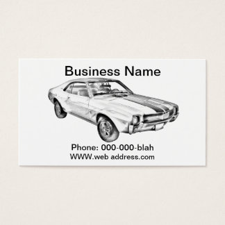 1969 AMC Javlin Car Illustration Business Card