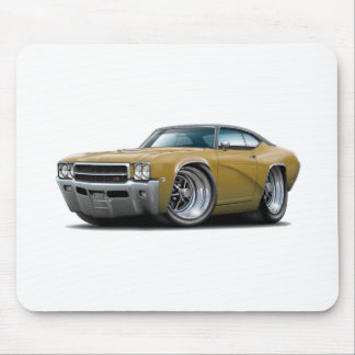 1969 Buick GS Gold-Black Top Car Mouse Pad