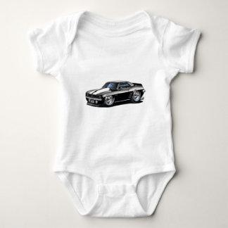 1969 Camaro Black-White Car Baby Bodysuit