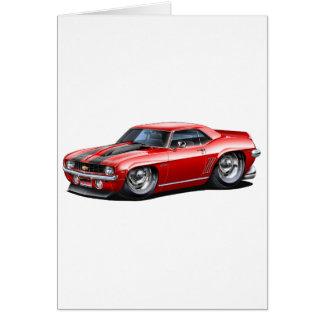 1969 Camaro SS Red-Black Car Card