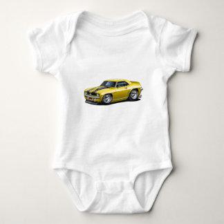 1969 Camaro SS Yellow-Black Car Baby Bodysuit