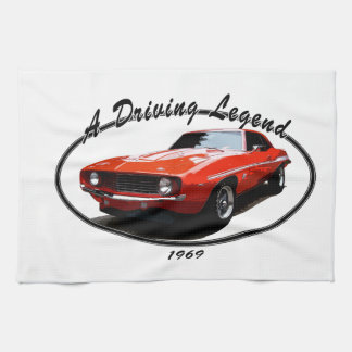 1969_camaro_yenko_orange kitchen towel