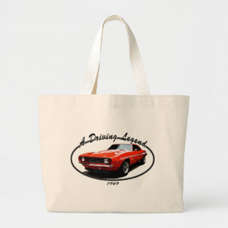 1969_camaro_yenko_orange large tote bag