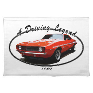 1969_camaro_yenko_orange placemat