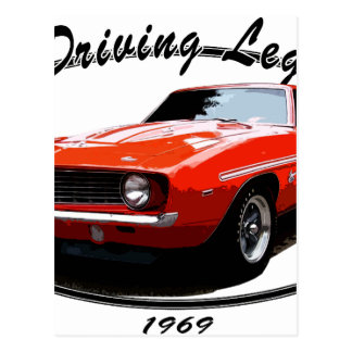 1969_camaro_yenko_orange postcard