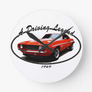 1969_camaro_yenko_orange round clock