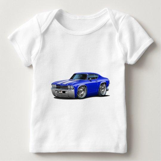 1969 Chevelle Blue-White Car Baby T-Shirt