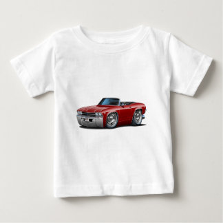1969 Chevelle Maroon Convertible Baby T-Shirt