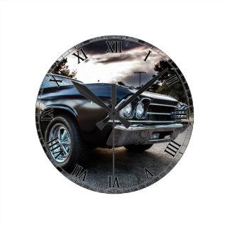 1969 Chevelle Photography Round Clock