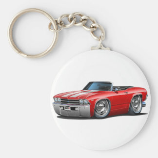 1969 Chevelle Red-White Convertible Keychain