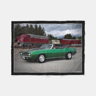 1969 Chevy Camaro Convertible Classic Car Fleece Blanket