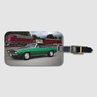 1969 Chevy Camaro Convertible Classic Car Luggage Tag
