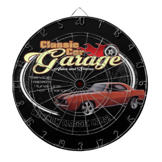 1969 Classic Car Garage Dartboard
