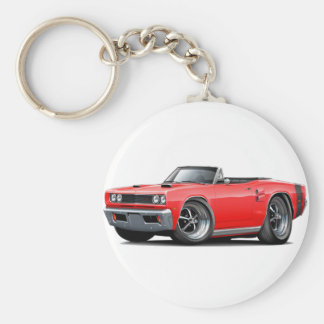 1969 Coronet RT Red-Black Double Scoop Hood Keychain