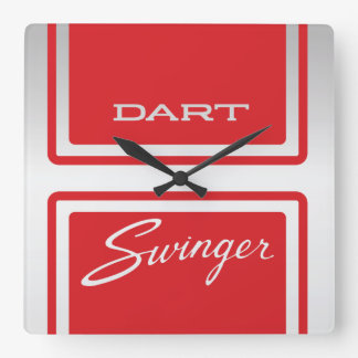 1969 Dodge Dart Swinger 340 Square Wall Clock
