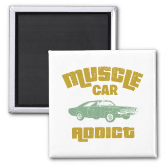 1969 Dodge Hemi Charger Square Magnet
