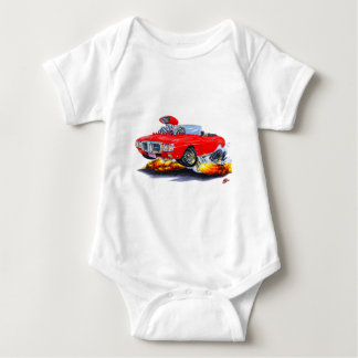 1969 Firebird Red Convertible Baby Bodysuit