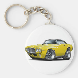 1969 Firebird Yellow-Black Top Car Keychain