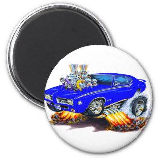 1969 GTO Judge Blue Car Magnet