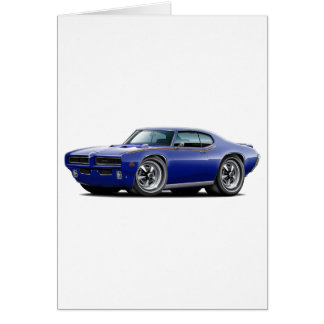 1969 GTO Judge Dark Blue Hidden Headlight Car Card