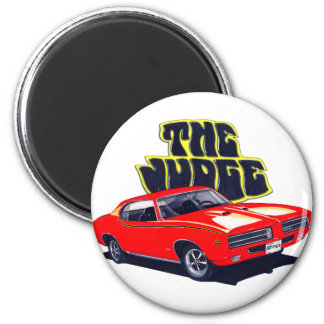 1969 GTO Judge Red Car Magnet