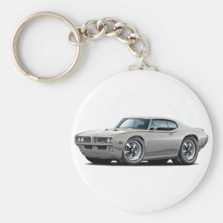1969 GTO Judge Silver Car Keychain