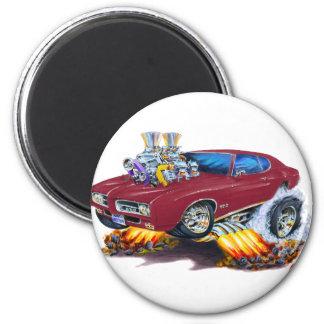 1969 GTO Maroon Car Magnet