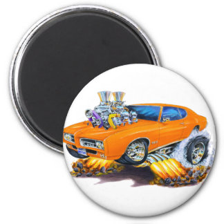 1969 GTO Orange Car Magnet