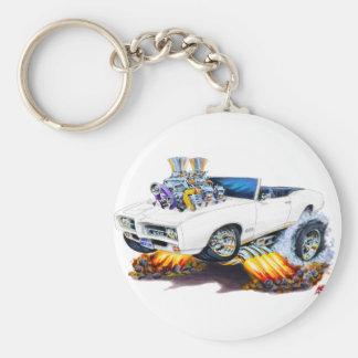 1969 GTO White Convertible Keychain